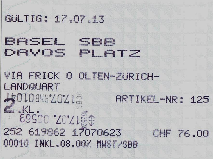 ticket d