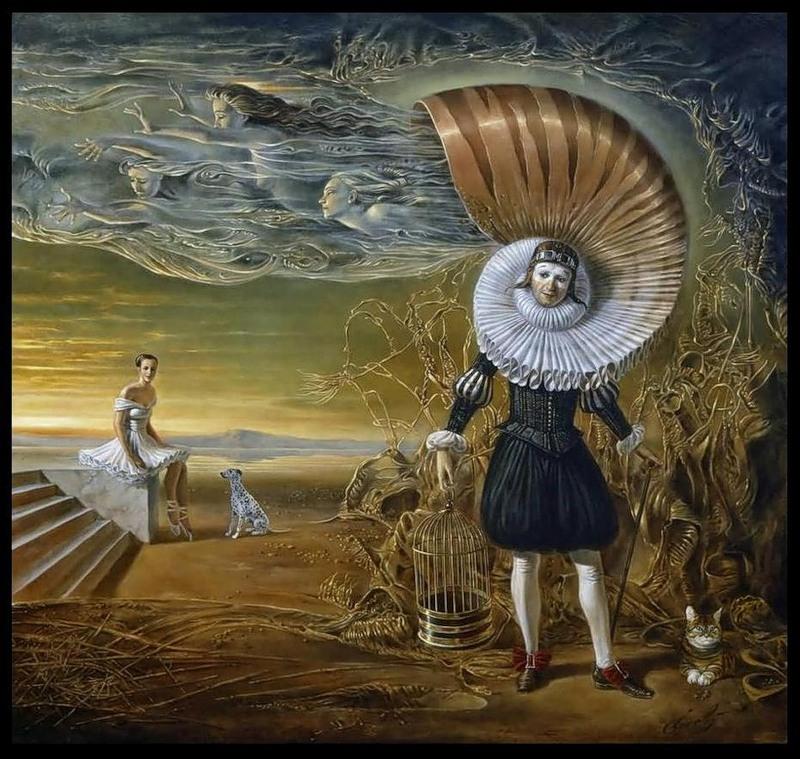 девушка и поэт с раковиной