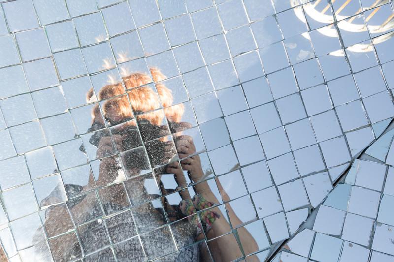 автопортет в зеркалах Института Солнца, Узбекистан