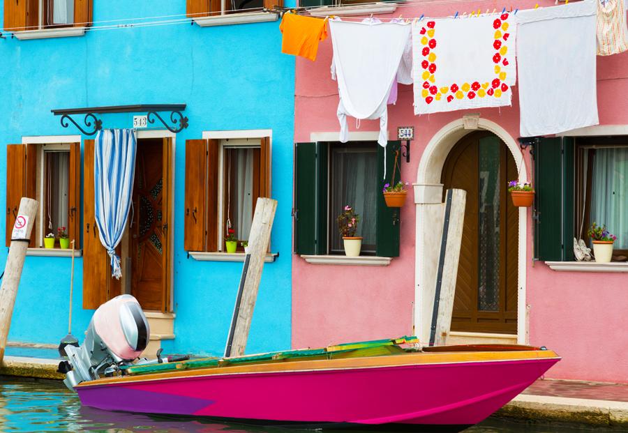 Бурано, моторная лодка