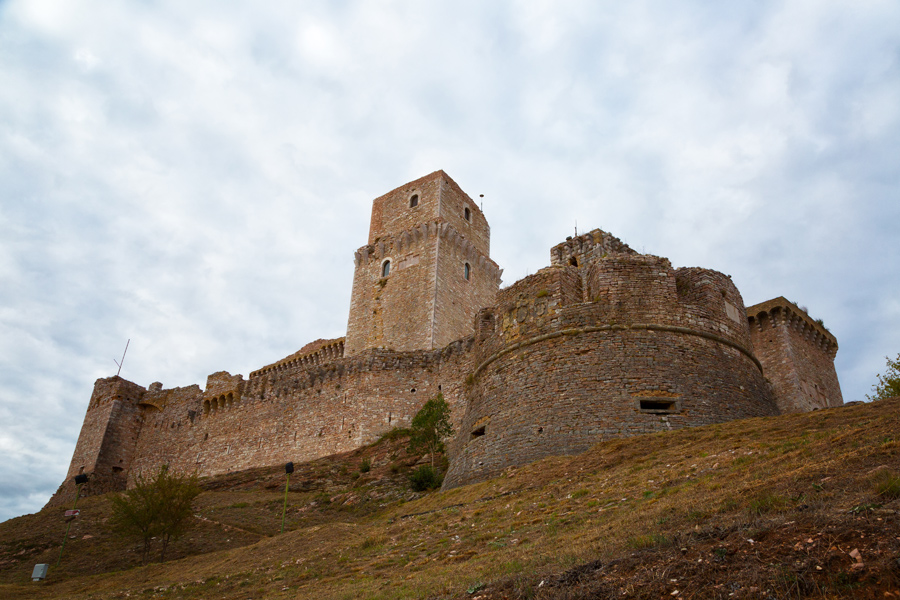 Крепость Рокка Маджоре, Ассизи, Умбрия, Италия