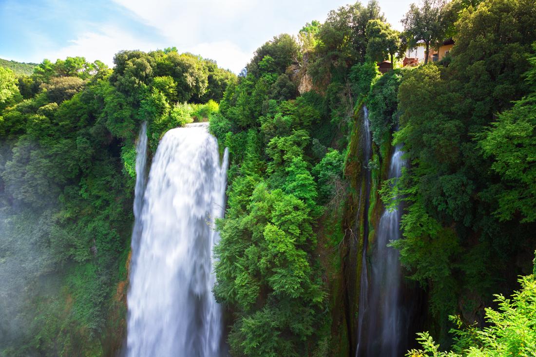Мраморный водопад, Умбрия, Италия