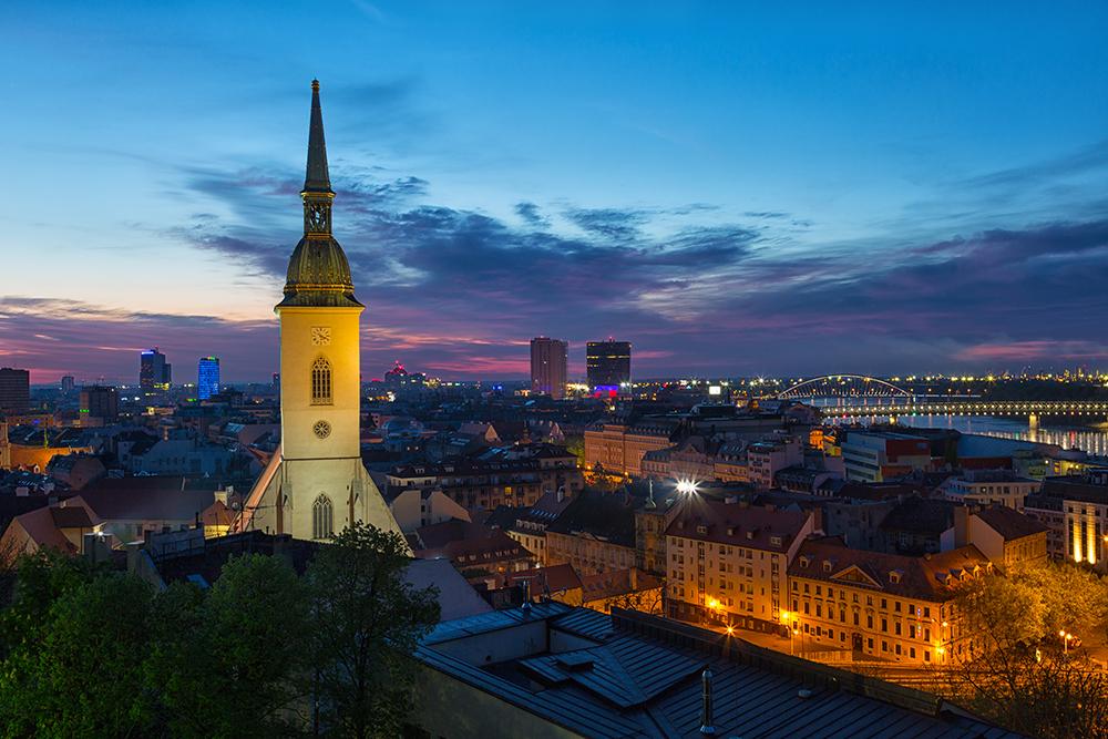 Как встретить рассвет в Братиславе
