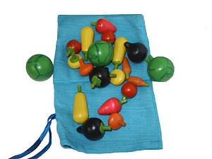 Набор овощей в мешочке
