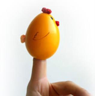 пальчиковая игрушка цыпленок