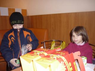 дети в кафешке