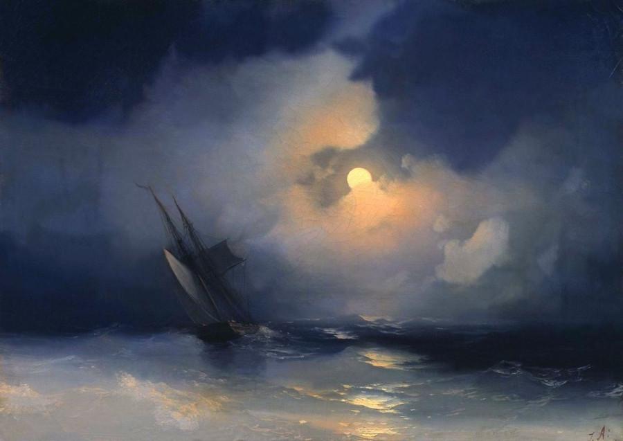 Буря-на-море-лунной-ночью-айваз (1)
