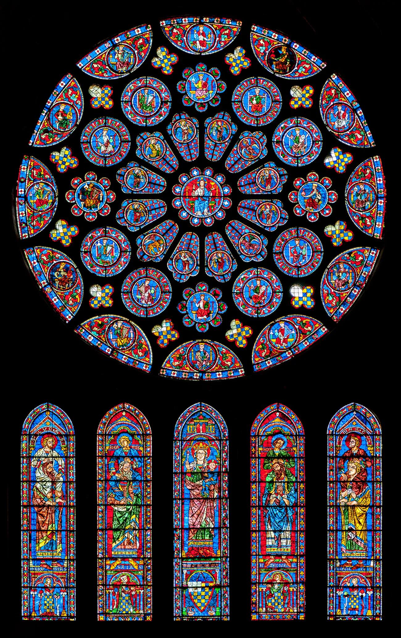 Витражи Шартрского собораPtrQs / Wikimedia Commons (CC BY-SA 3.0)