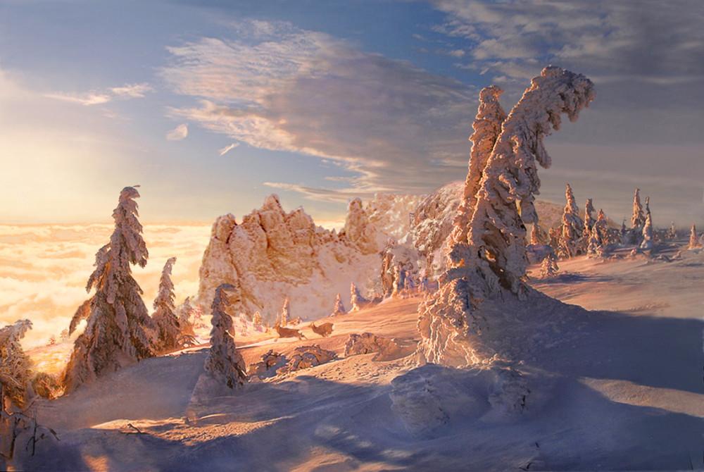 зима 91 x 61