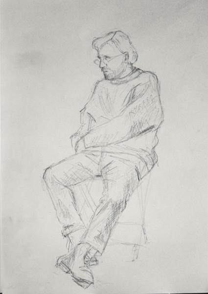 1 Олена Яворська. Портрет художника. Олівець sait