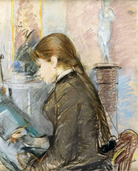 Берта Моризо Поль-Gobillard-рисование 1886