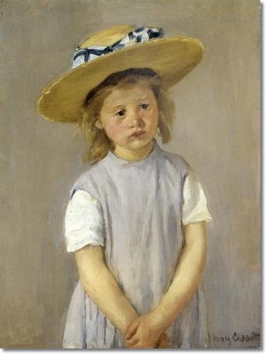 mary-cassatt-little-girl-in-a-big-straw-hat-and-a-pinafore-c-1886-нац галерея мистецв