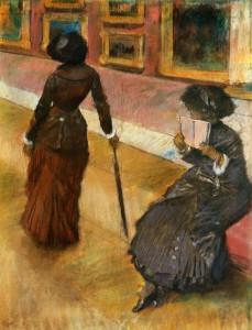 Mary Cassatt at the Louvre 1880 Edgar Degas
