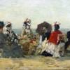 Ежен Буден. Фігури на пляжі в Трувілі. 1865.