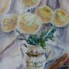 Дарина Кожушко. Білі хризантеми.2013. Акварель