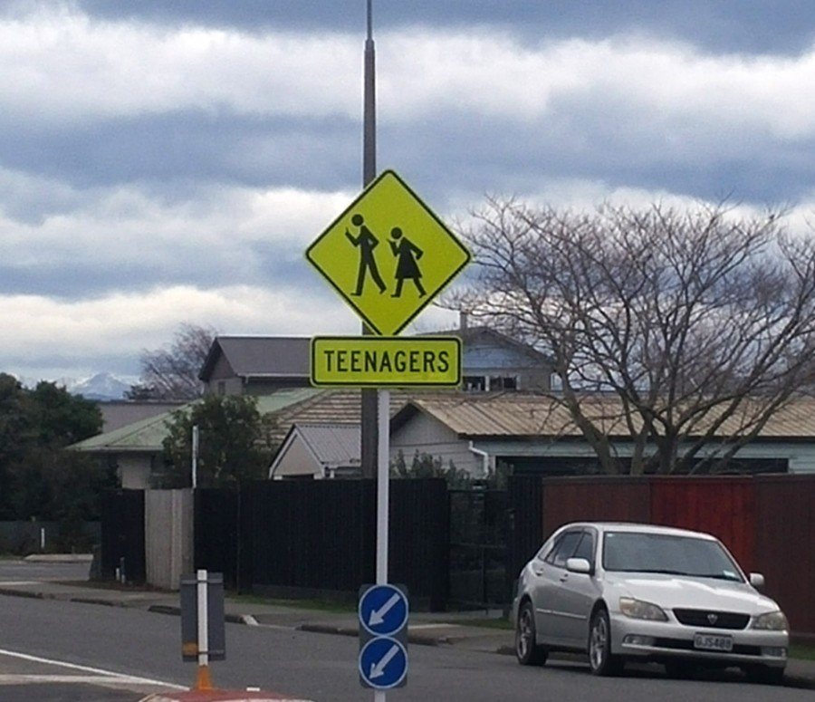 roadsign-NZ-teenagers