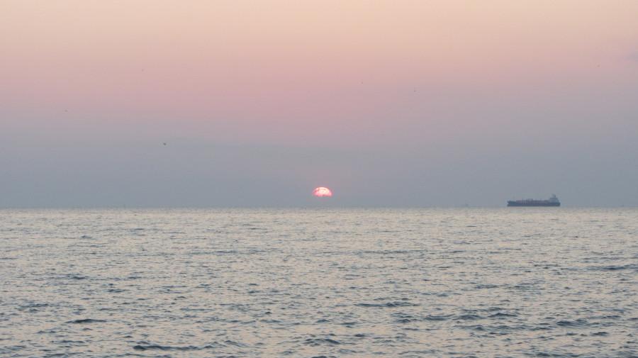 Восход солнца в Одессе