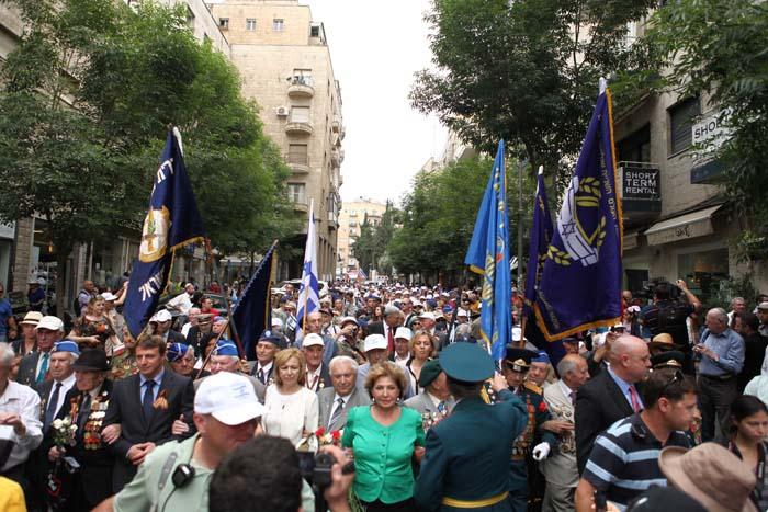 Торжественный парад Победы в Иерусалиме 1