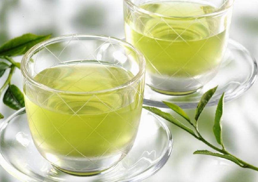 Зеленый чай цвет