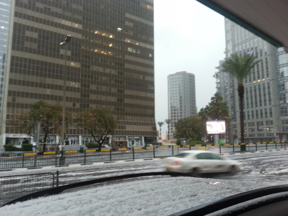 Снег в Тель Авиве 3