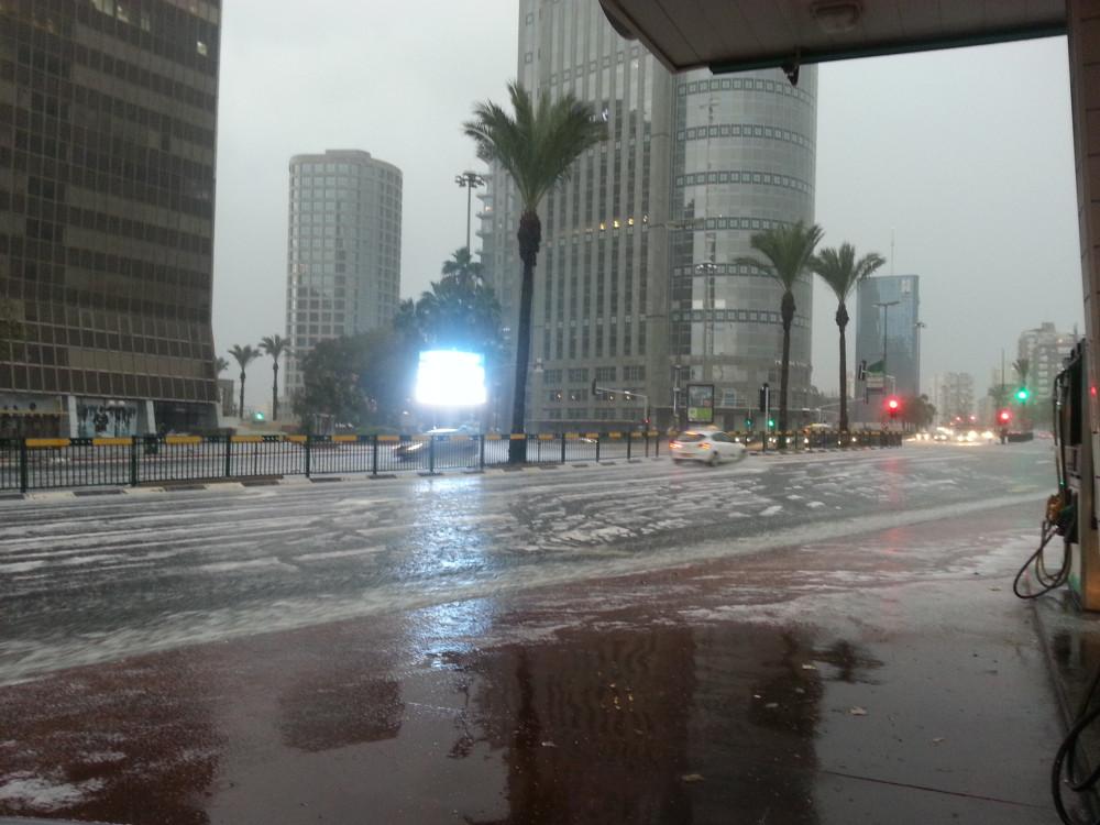 Снег в Тель Авиве 4