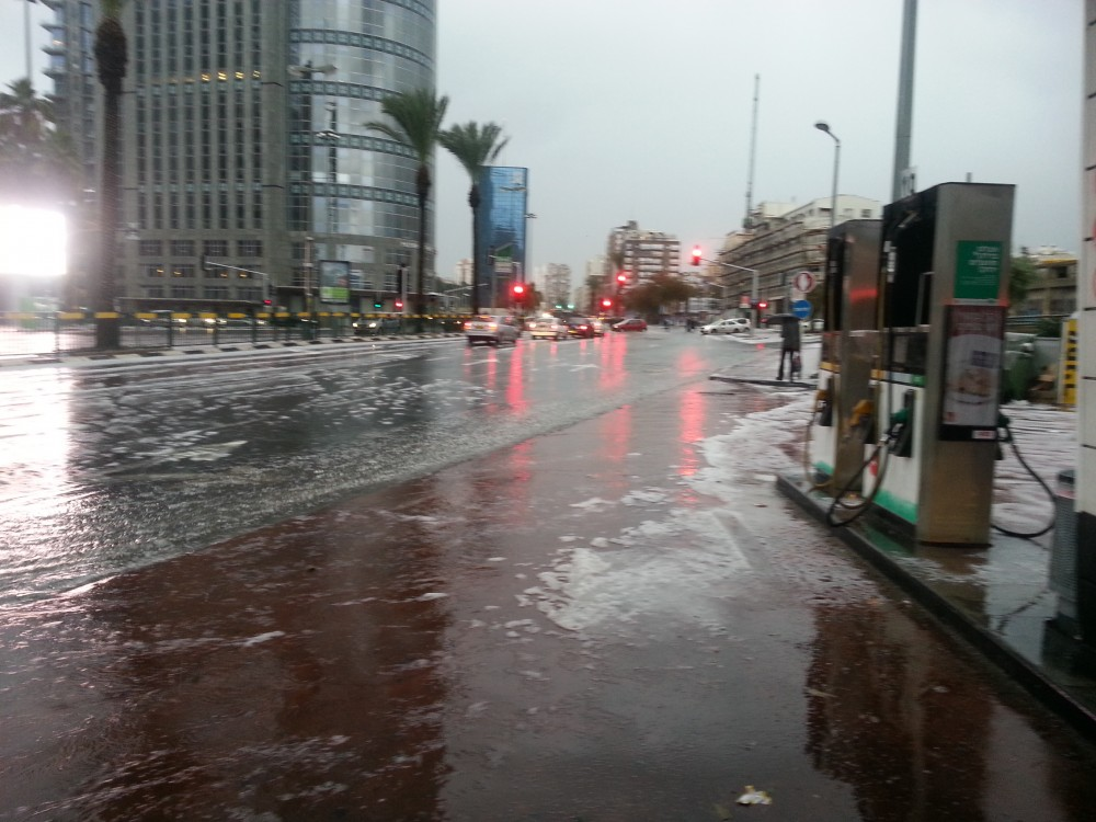 Снег в Тель Авиве 6