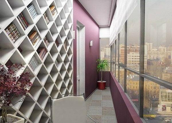 Хорошая идея для узкого балкона