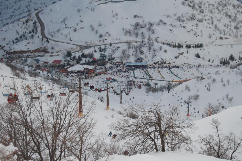 Горные лыжи на горе Хермон в Израиле
