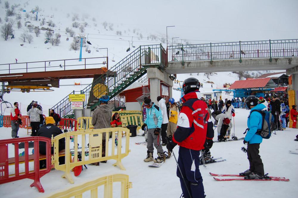 Горные лыжи на горе Хермон в Израиле 9
