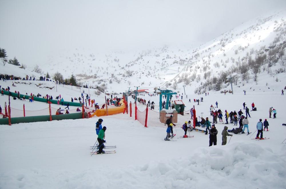 Горные лыжи на горе Хермон в Израиле 10