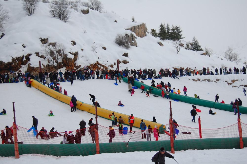Горные лыжи на горе Хермон в Израиле 11