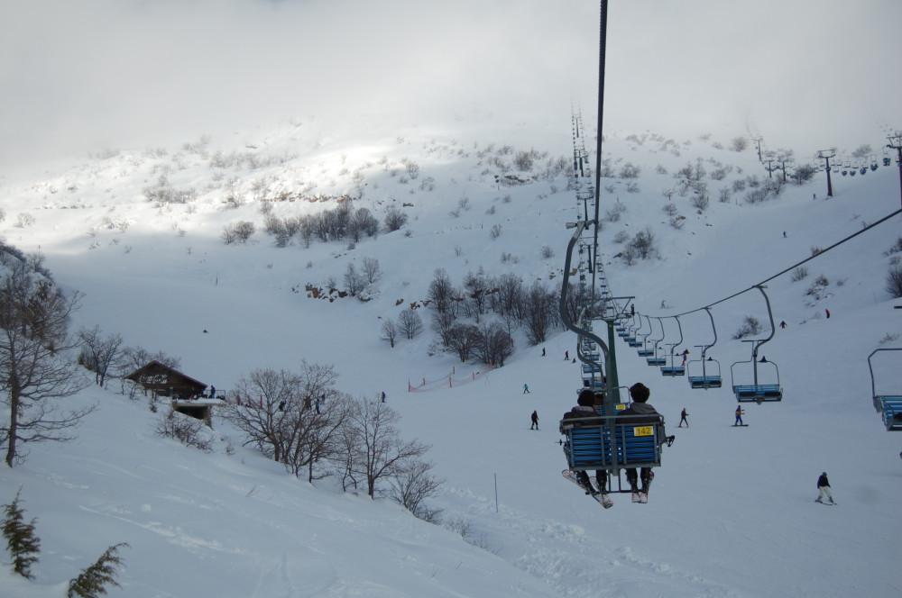 Горные лыжи на горе Хермон в Израиле 12