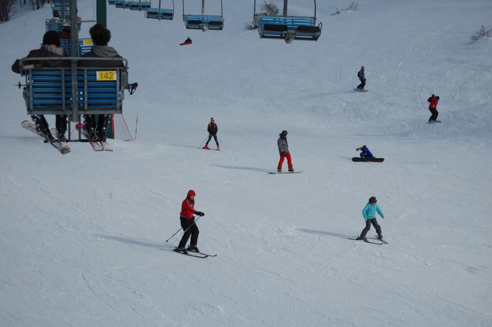 Горные лыжи на горе Хермон в Израиле 13