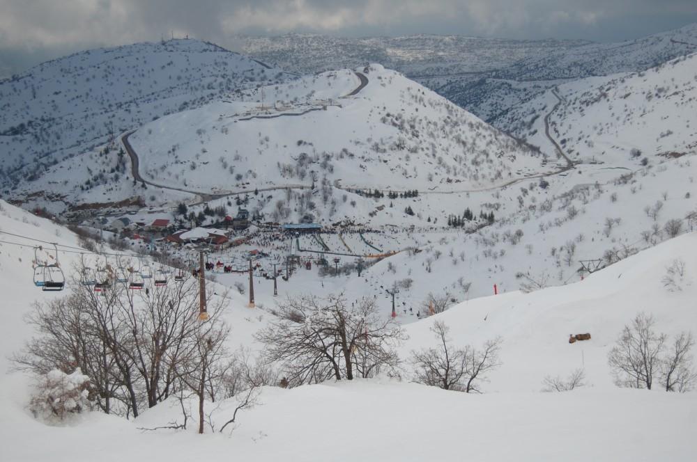 Горные лыжи на горе Хермон в Израиле 16