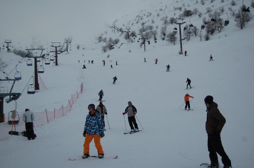 Горные лыжи на горе Хермон в Израиле 19