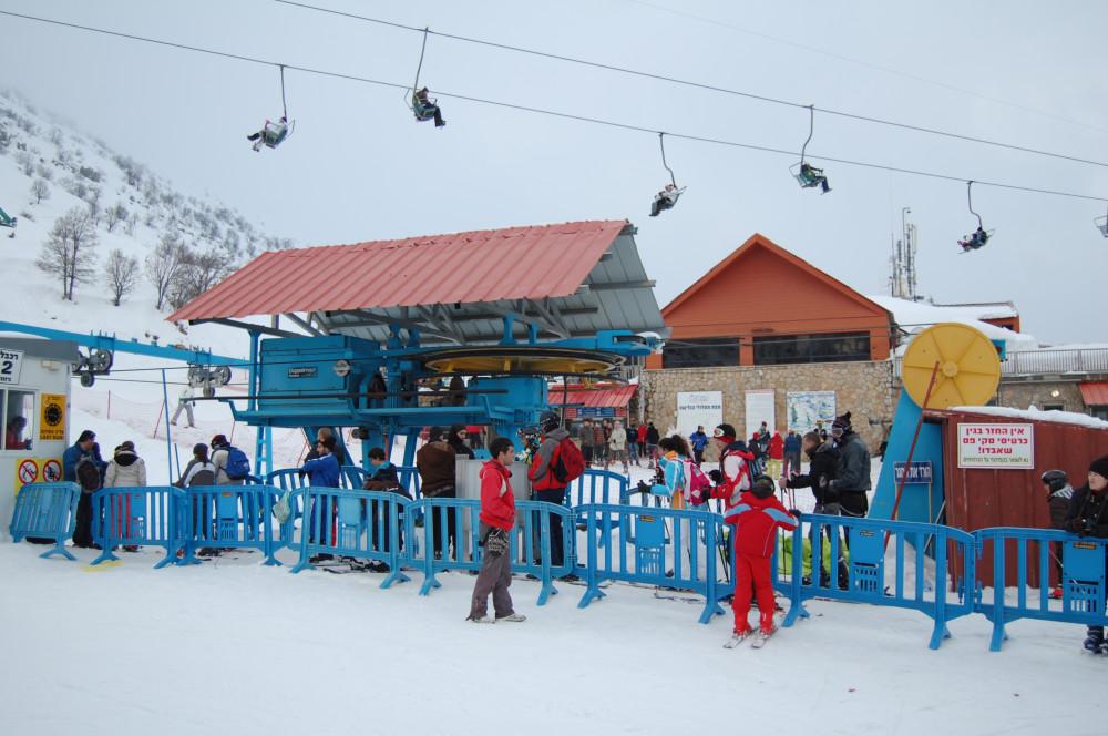 Горные лыжи на горе Хермон в Израиле 20
