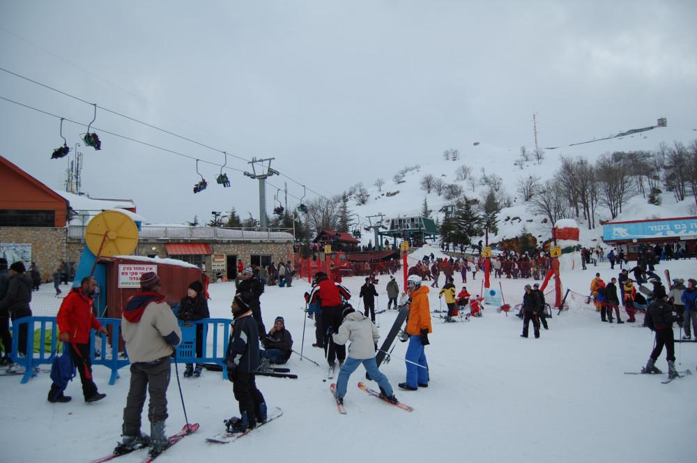 Горные лыжи на горе Хермон в Израиле 21