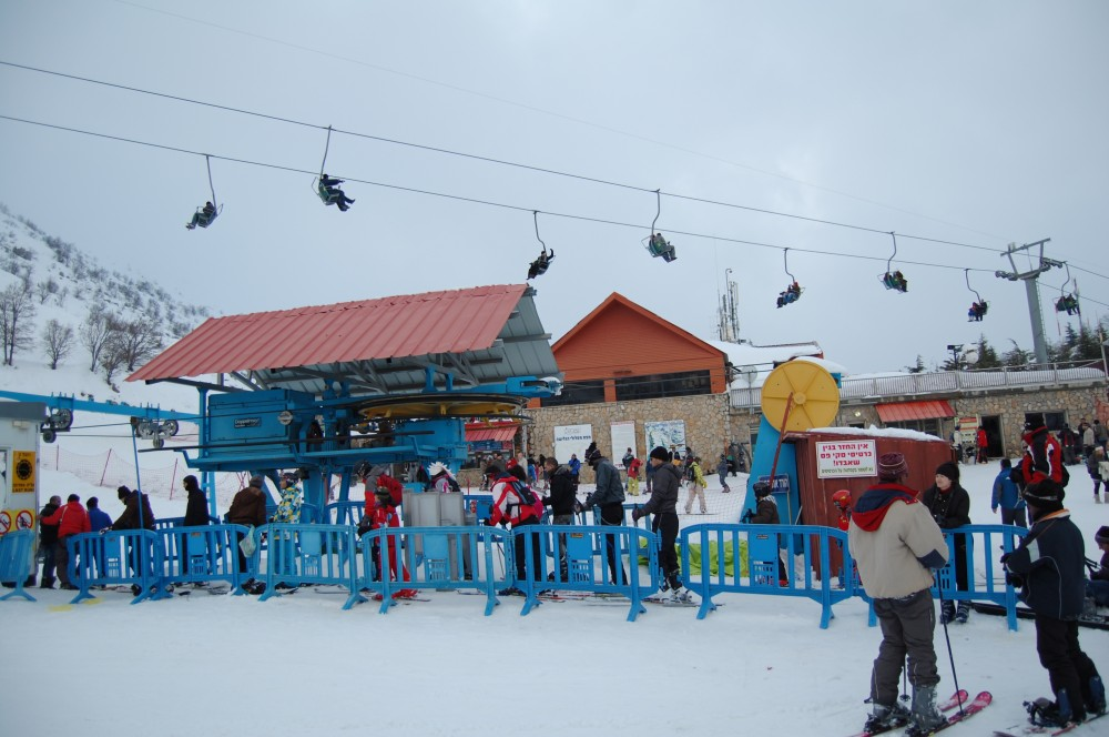 Горные лыжи на горе Хермон в Израиле 22