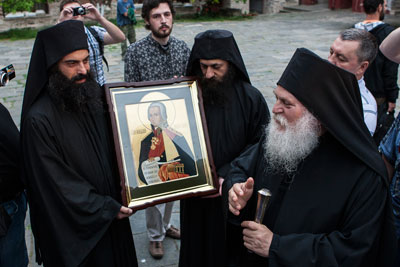 Передача иконы Святого Праведного адмирала Ушакова