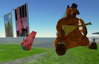 Мишка на русской территории Second Life