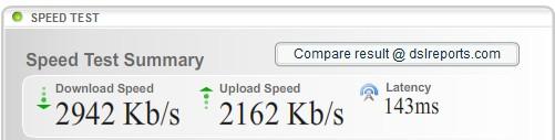 Gorcom безлимитный 20000 по четырем жилам кабеля и через Asus WL-520GC (не WiFi)