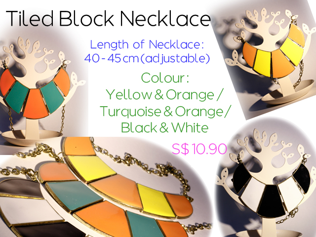 Tiled Block Necklace