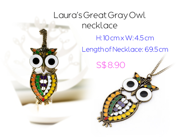 Laura's Great Gray Owl Necklace