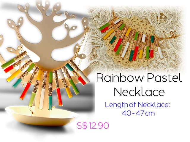 Rainbow Pastel Necklace