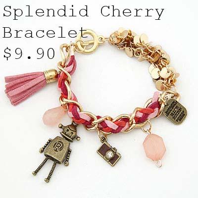 Splendid Cherry Bracelet