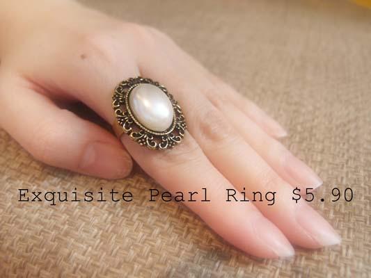 Exquisite Pearl Ring