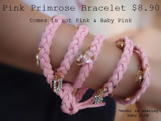 Pink Primrose Bracelet 2