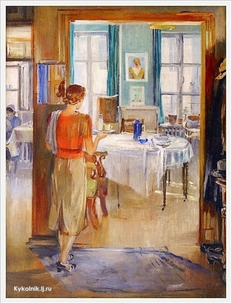 1960-e Пименов Юрий Иванович (Россия, 1903 - 1977) «В комнатах»