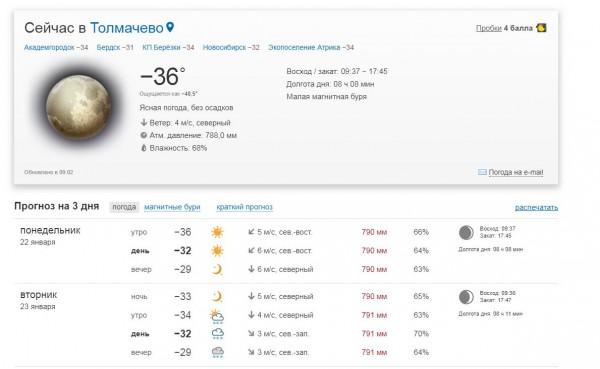 температура 220118