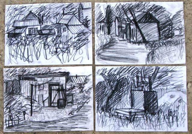 Зарисовки сельских домов села